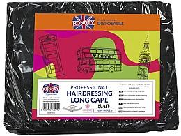 Perfumería y cosmética Capas de peluquería, negras, 10uds. - Ronney Professional Hairdressing Long Cape