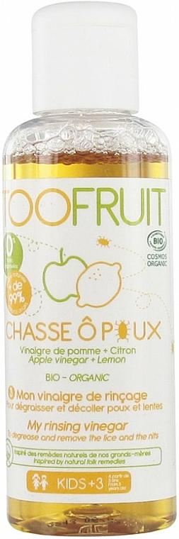 Tratamiento orgánico antipiojos con vinagre de manzana y limón - Toofruit Lice Hunt Vinegar