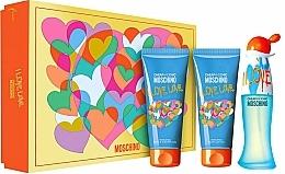 Perfumería y cosmética Moschino I Love Love - Set (Eau de toilette/50ml + Loción corporal/100ml + Gel de ducha/100ml)