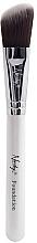 Perfumería y cosmética Brocha biselada para colorete, MC-F-01 - Nanshy Foundation Brush Pearlescent White