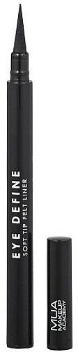 Delineador de ojos de larga duración - MUA Eye Define Soft Tip Felt Liner