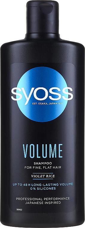 Champú natural voluminizador con aminoácidos y arroz violeta - Syoss Volume Violet Rice Shampoo