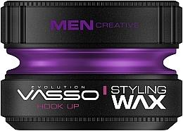 Perfumería y cosmética Cera para cabello de fijación muy fuerte con aroma a plátano y vainilla - Vasso Professional Hair Styling Wax Hook Up