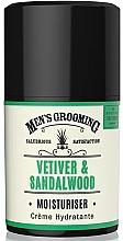 Perfumería y cosmética Crema facial con ácido hialurónico para hombres, aroma a vetiver y sándalo - Scottish Fine Soaps Vetiver & Sandalwood Moisturiser