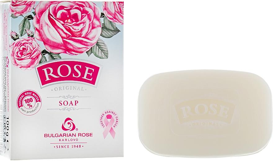 Jabón de glicerina con agua 100% natural de rosas - Bulgarian Rose Rose Original Soap