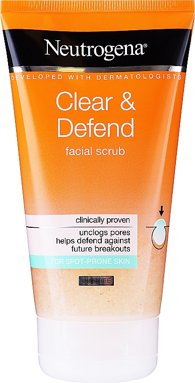 Exfoliante facial - Neutrogena Visibly Clear Spot Proofing Smoothing Scrub — imagen N3