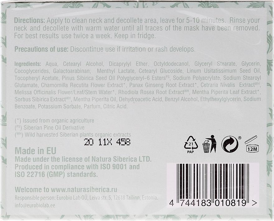 Mascarilla para cuello y escote con extracto de ginseng, menta orgánica y azarollo - Natura Siberica — imagen N2