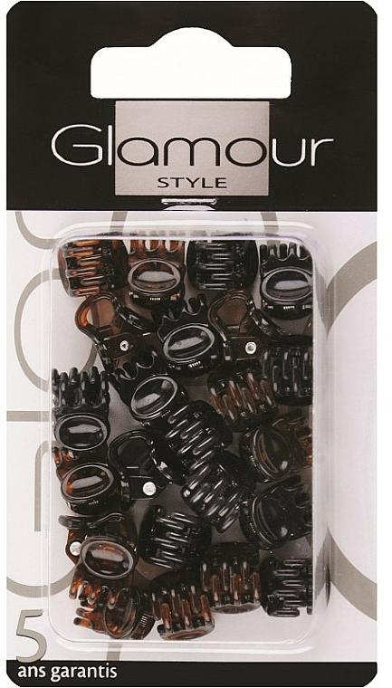 Pinzas de pelo, 0222, negro-marrón - Glamour