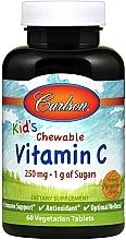 Perfumería y cosmética Complemento alimenticio en cápsulas de vitamina C con sabor a mandarina - Carlson Labs Kid's Chewable Vitamin C