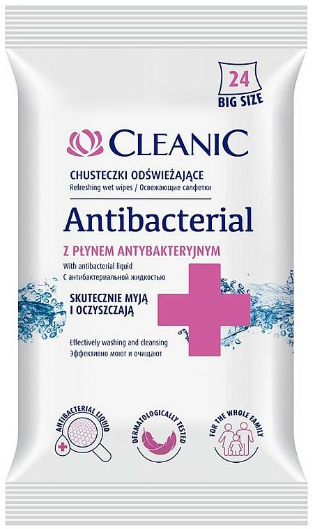 Toallitas antibacterianas, 24 uds. - Cleanic Antibacterial Wipes