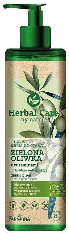 Crema corporal nutritiva con vitaminas - Farmona Herbal Care Green Olive Nourishing Body Cream