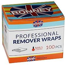 Perfumería y cosmética Láminas con esponja removedoras de esmalte híbrido - Ronney Professional Remover Wraps