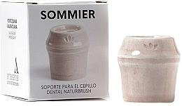 Perfumería y cosmética Soporte para cepillo dental de porcelana, rosa - NaturBrush Sommier Toothbrush Holder