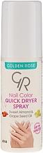 Perfumería y cosmética Spray secante de uñas con aceite de almendras dulces - Golden Rose Nail Quick Dryer Spray