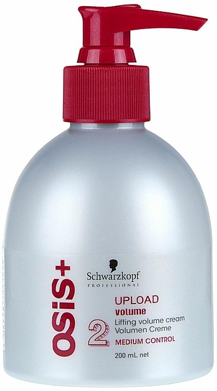 Crema voluminizadora para cabello con aceite de ricino - Schwarzkopf Professional Osis+ Upload Volume Cream  — imagen N3