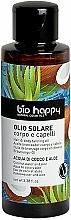 Perfumería y cosmética Aceite bronceador con agua de coco y aloe - Bio Happy Hair & Body Tanning Oil Coconut Water And Aloe