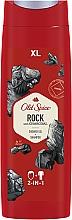 Perfumería y cosmética Gel de ducha + champú 2en1 con extracto de carbón - Old Spice Rock With Charcoal Shower Gel + Shampoo