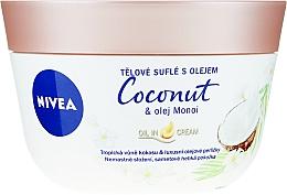 Perfumería y cosmética Soufflé corporal con aceites de coco y monoi - Nivea Body Souffle Coconut & Monoi Oil