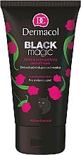 Perfumería y cosmética Mascarilla facial con carbón activo & aloe vera - Dermacol Black Magic Detox&Pore Purifying Peel-Off Mask