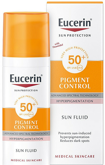 Fluido facial contra la hiperpigmentación con glicerina - Eucerin Sun Protection Pigment Control SPF50+