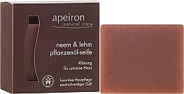 Perfumería y cosmética Jabón artesanal con aceite de semilla de neem y arcilla roja - Apeiron Neem & Clay Plant Oil Soap