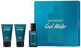 Perfumería y cosmética Davidoff Cool Water - Set (eau de toilette/40ml + gel de ducha para cuerpo y cabello/50ml + bálsamo aftershave/50ml)