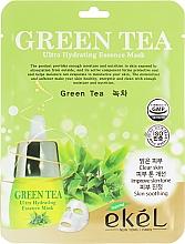 Perfumería y cosmética Mascarilla facial de tejido hidratante con extracto de té verde - Ekel Green Tea Ultra Hydrating Essence Mask