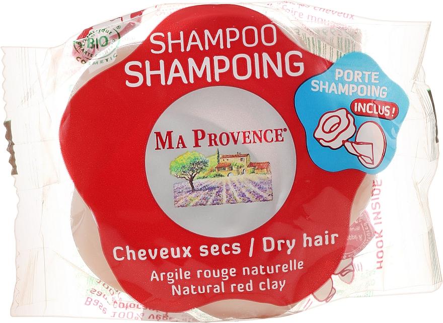 Champú sólido con arcilla roja natural, manteca de karité y aceite de argán - Ma Provence Shampoo