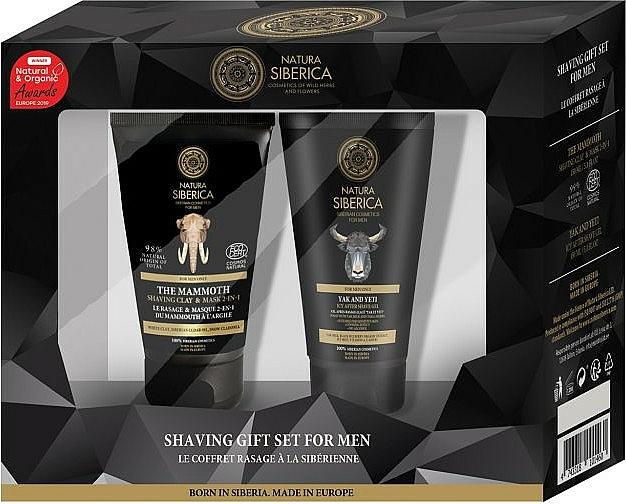 Natura Siberica - Set de afeitado (arcilla y mascarilla de afeitar/150ml + gel aftershave/150ml)