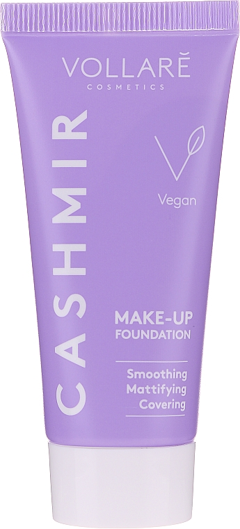 Base de maquillaje vegana suavizante con efecto mate - Vollare Covering Cashmir Make-Up Foundation