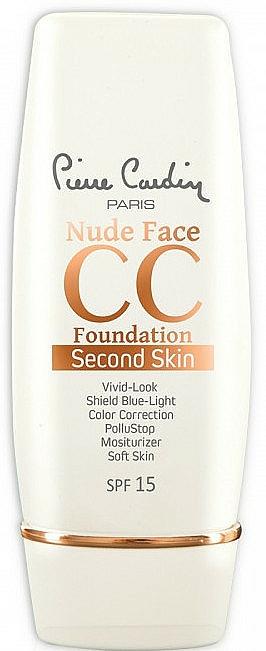 CC crema SPF 15 - Pierre Cardin Nude Face CC Foundation Second Skin SPF 15
