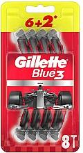 Perfumería y cosmética Maquinillas de afeitar desechables, 8uds. - Gillette Blue3 Nitro