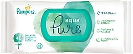 Perfumería y cosmética Toallitas húmedas para bebés de algodón orgánico sin perfume ni alcohol, 48uds. - Pampers Aqua Pure Wipes