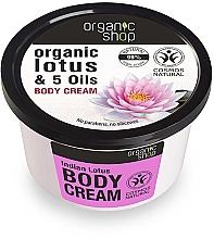Perfumería y cosmética Crema corporal con extracto orgánico de loto y 5 aceites - Organic Shop Body Cream Organic Lotus & Oils