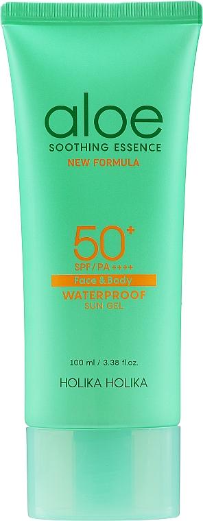 Gel facial de protección solar resistente al agua con aloe - Holika Holika Aloe Waterproof Sun Gel