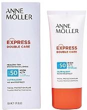 Perfumería y cosmética Fluido protector solar facial, SPF 50 - Anne Moller Double Care Ultralight Facial Protection Fluid SPF50