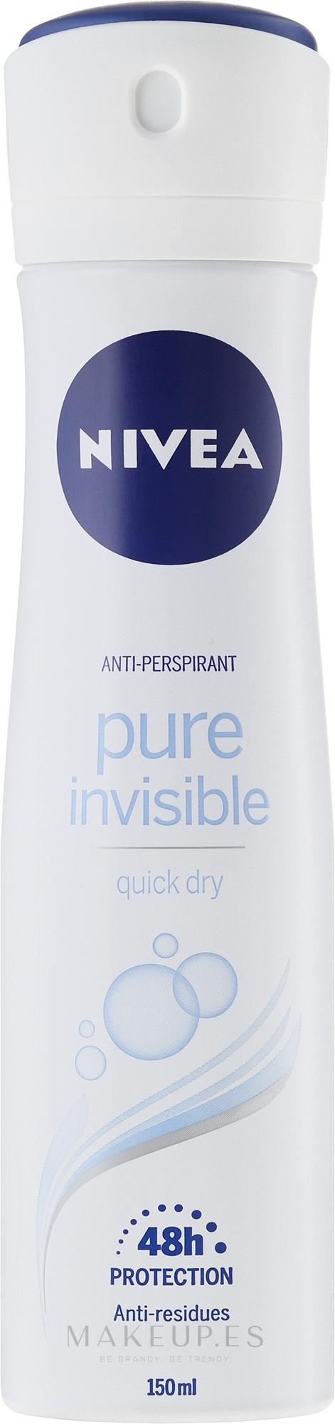 Desodorante spray 48h - Nivea Pure Invisible Deodorant Spray 48H — imagen 150 ml