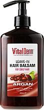 Perfumería y cosmética Acondicionador para cabello rizado con aceite de argán y complejo vitamínico - VitalDerm Argana