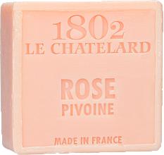Perfumería y cosmética Jabón natural con rosa peonía, sin aceite de palma - Le Chatelard 1802 Soap Rose Pione