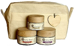 Perfumería y cosmética Set para pieles secas y normales - Shy Deer Natural Ritual Set (mascarilla/50ml+crema/50ml+crema contorno de ojos/30ml+neceser)