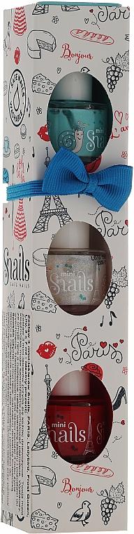 Set esmalte de uñas infantil, lavable y no tóxico - Snails Mini Paris (3uds.x7ml) — imagen N1