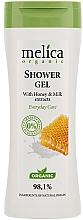 Perfumería y cosmética Gel de ducha orgánico con extracto de miel y leche - Melica Organic Shower Gel