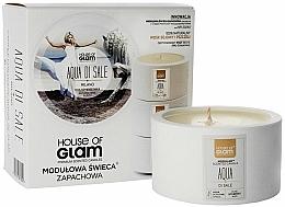 Perfumería y cosmética Vela natural aromática de cera de soja y abeja - House of Glam Aqua Di Sale Candle
