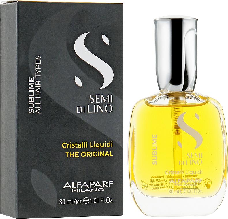 Sérum iluminador de cabello con vitaminas A, E y F - Alfaparf Semi di Lino Sublime Cristalli Liquidi