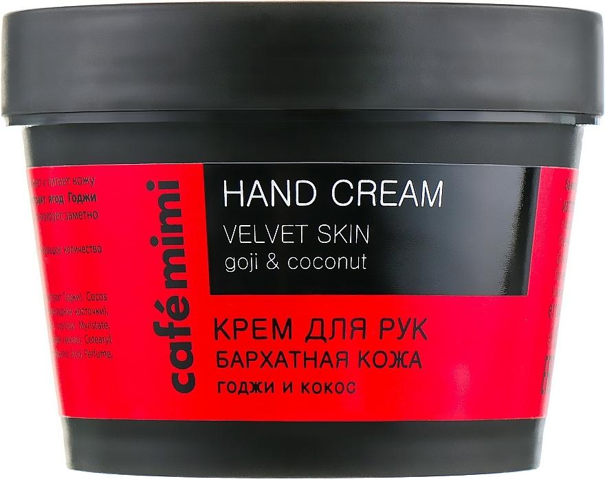 Crema de manos con bayas de goji y coco - Cafe Mimi Hand Cream Velvet Skin