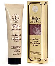 Perfumería y cosmética Crema para rostro y cuerpo hidratante con aroma a sándalo y pachulí - Taylor of Old Bond Street Sandalwood Moisturising Cream