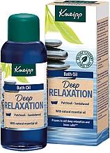 Perfumería y cosmética Aceite de baño relajante con extractos naturales de sándalo y pachulí - Kneipp Deep Relaxation Patchouli & Sandalwood