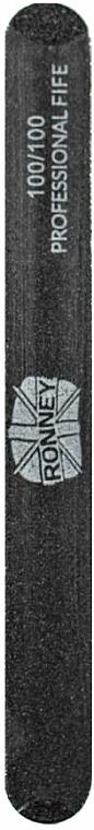 Lima de uñas, recta, grano 100/100, negra - Ronney Professional