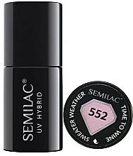 Perfumería y cosmética Esmalte gel de uñas híbrido, UV, efecto suéter - Semilac UV Hybrid Sweater Weather
