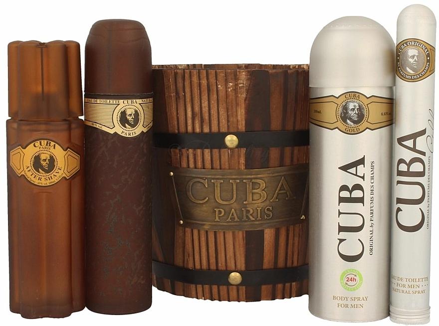 Cuba Gold - Set (eau de toilette/100ml + eau de toilette/35ml + loción aftershave/100ml + desodorante/200ml) — imagen N2